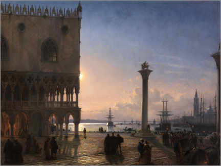 Obraz na płótnie  Piazza San Marco by moonlight - Friedrich Nerly