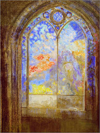 Obraz na szkle akrylowym  Church window - Odilon Redon