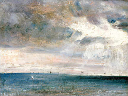 Gallery print  Study of the sea and sky - John Constable
