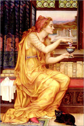 Obraz na płótnie  The love potion - Evelyn De Morgan