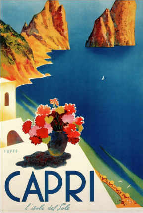 Plakat  Capri - Włochy - Travel Collection