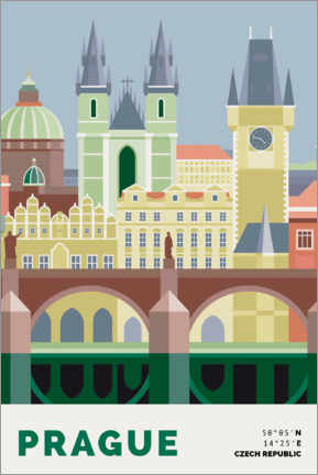 Plakat prague skyline