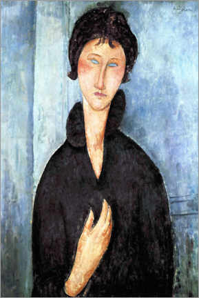 Plakat Woman with blue eyes