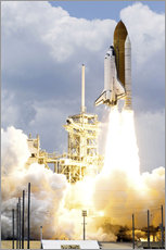 Gallery print  Space shuttle Atlantis launches