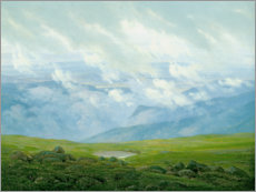 Obraz na PCV  Drifting Clouds - Caspar David Friedrich