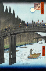 Gallery print  Kyoto bridge by moonlight - Utagawa Hiroshige