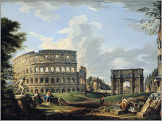 Gallery print  The Coliseum and the Arch of Constantine - Giovanni Paolo Pannini