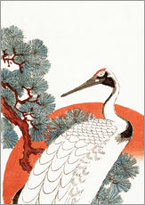 Gallery print  First sunrise of the New Year, with a crane in a pine tree - Utagawa Hiroshige