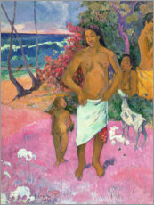 Obraz na płótnie  A Walk by the Sea - Paul Gauguin