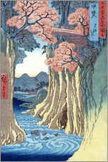 Gallery print  The Monkey Bridge in the Kai Province - Utagawa Hiroshige