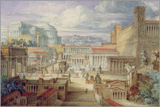 Gallery print  A Scene in Ancient Rome - Joseph Michael Gandy