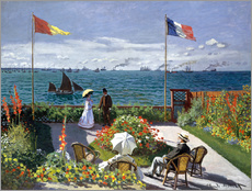 Gallery print  Garden at Sainte-Adresse - Claude Monet