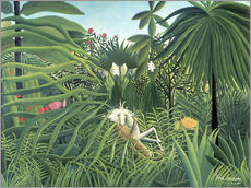 Gallery print  Jaguar Attacking a Horse - Henri Rousseau