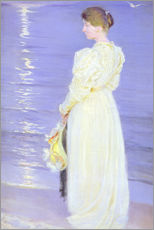 Gallery print  Woman in White on a Beach - Peder Severin Kr?yer