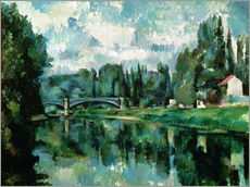 Naklejka na ścianę  The Banks of the Marne at Creteil - Paul Cézanne