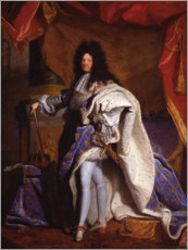 Gallery print  Louis XIV in Royal Costume - Hyacinthe Rigaud