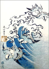 Gallery print  Waves and Birds - Katsushika Hokusai