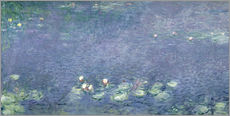 Naklejka na ścianę  Waterlilies: Morning - Claude Monet