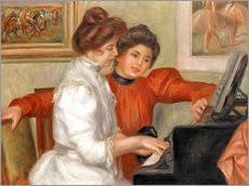 Gallery print  Yvonne and Christine Lerolle at the piano - Pierre-Auguste Renoir