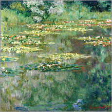 Gallery print  The waterlily pond - Claude Monet