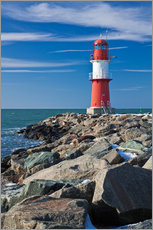Gallery print  Lighthouse on the Baltic Sea coast in Warnemuende (Germany) - Rico Ködder