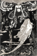 Obraz na drewnie  The Little Mermaid - Harry Clarke
