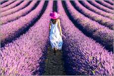 Gallery print  Girl in a lavender field - Matteo Colombo