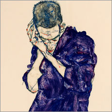 Gallery print  Youth with violet frock - Egon Schiele