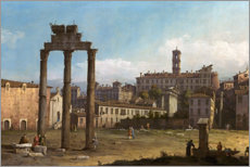 Obraz na drewnie  Ruins of the Forum, Rome - Bernardo Bellotto (Canaletto)