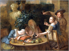 Gallery print  A drinking session in the garden - Aert Schouman