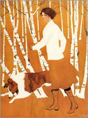 Gallery print  Birches - Clarence Coles Phillips