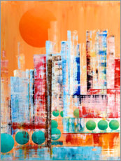 Plakat Skyline New York, abstract
