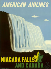 Naklejka na ścianę  American Airlines Niagara Falls and Canada - Travel Collection