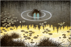 Gallery print  N?kken, The Monster of the Lake - Theodor Kittelsen