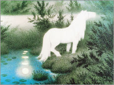 Gallery print  The Nix as a white horse - Theodor Kittelsen