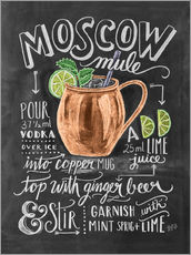 Gallery print  Moscow Mule przepis (angielski) - Lily & Val
