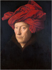 Gallery print  Man with a red turban - Jan van Eyck