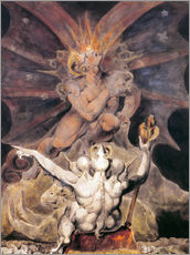 Naklejka na ścianę  The Number of the Beast is 666 - William Blake