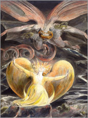 Naklejka na ścianę  The great red dragon and the woman clothed with sun - William Blake