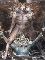 Naklejka na ścianę  The Great Red Dragon and the Beast From the Sea - William Blake