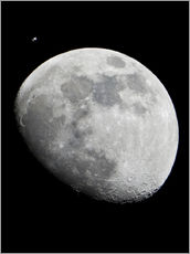 Gallery print  ISS and the Moon - NASA