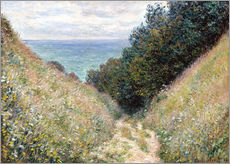 Gallery print  Road at La Cavée, Pourville - Claude Monet