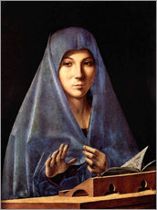 Gallery print  Mary of the Annunciation - Antonello da Messina