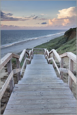 Naklejka na ścianę  Stairs down to the beach, Sylt - Markus Lange
