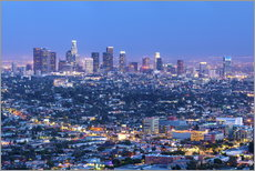 Naklejka na ścianę  Cityscape of the Los Angeles skyline at dusk, Los Angeles, California, United States of America, Nor - Chris Hepburn