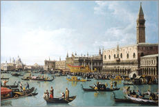 Naklejka na ścianę  The harbour of San Marco on Ascension Day - Bernardo Bellotto (Canaletto)