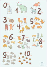 Gallery print  Number of animals - Petit Griffin