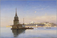 Naklejka na ścianę  The Maiden's Tower (Maiden Tower) with Istanbul in the background - Carl Neumann