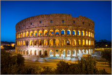 Naklejka na ścianę  Colosseum in Rome at night - Jan Christopher Becke
