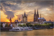 Gallery print  Cologne Cathedral and Great St Martin - Jens Korte